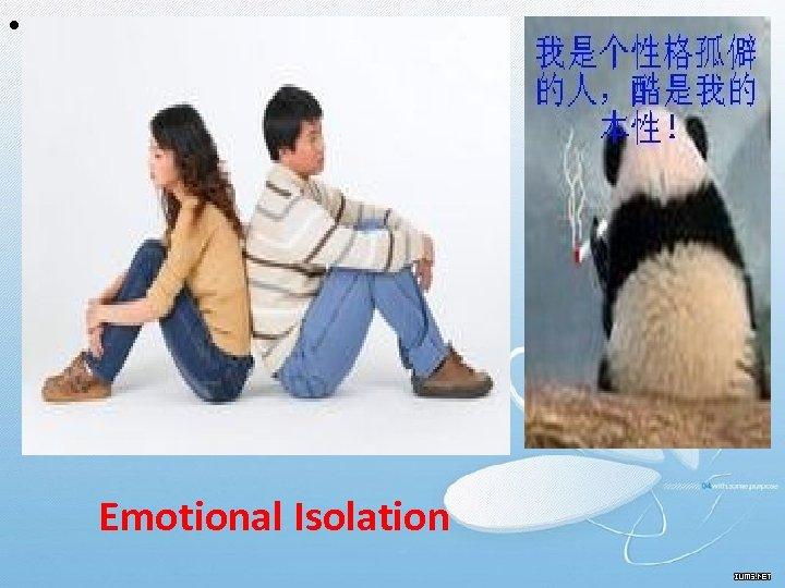 • Emotional Isolation