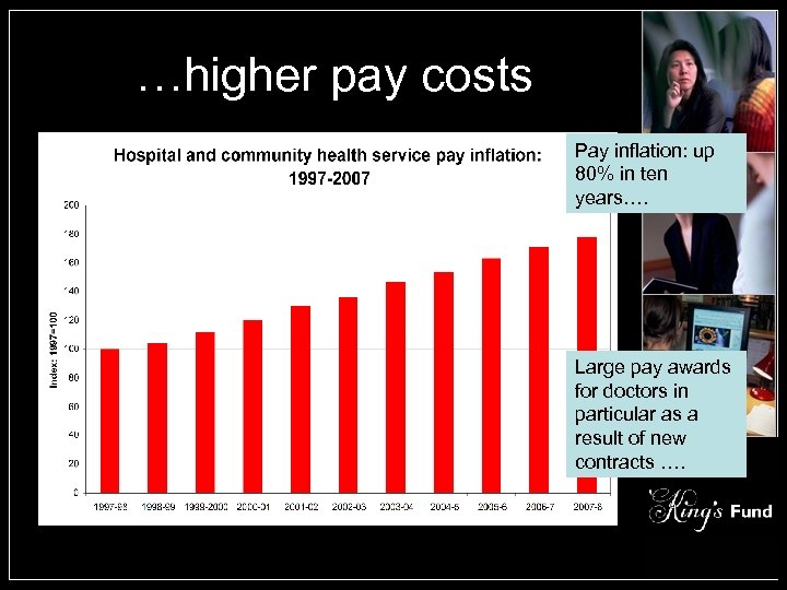 …higher pay costs Pay inflation: up 80% in ten years…. Large pay awards for