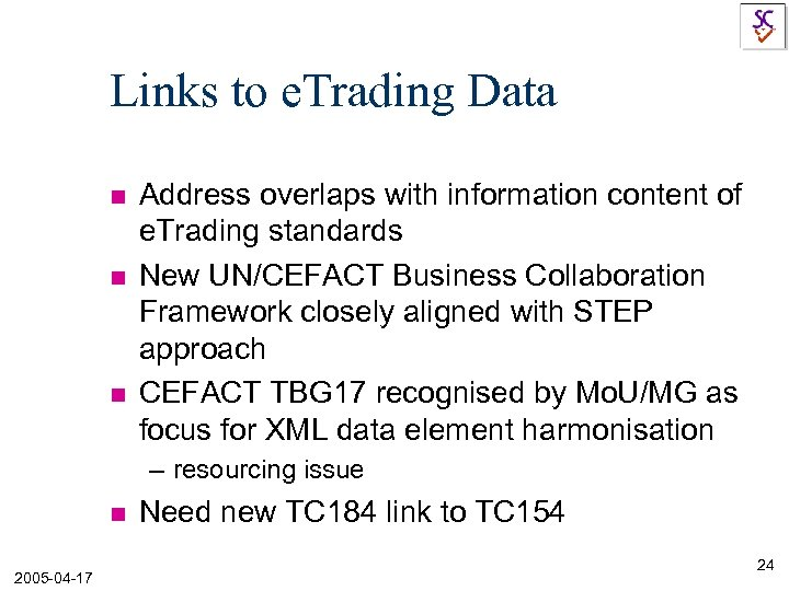 Links to e. Trading Data n n n Address overlaps with information content of