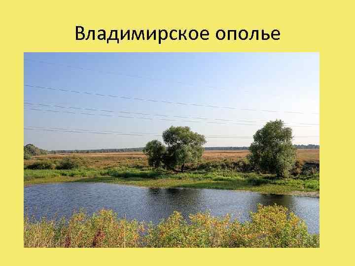 Владимирское ополье