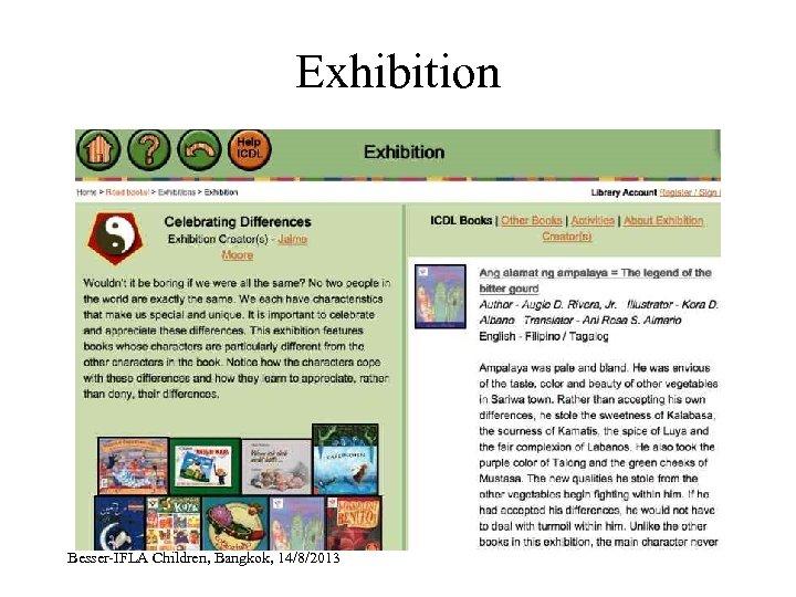 Exhibition Besser-IFLA Children, Bangkok, 14/8/2013