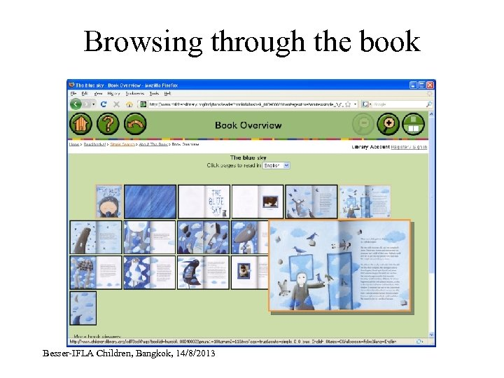 Browsing through the book Besser-IFLA Children, Bangkok, 14/8/2013