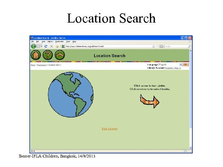 Location Search Besser-IFLA Children, Bangkok, 14/8/2013
