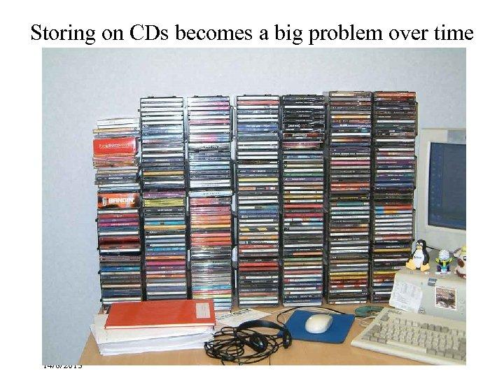 Storing on CDs becomes a big problem over time Besser-IFLA Children, Bangkok, 14/8/2013