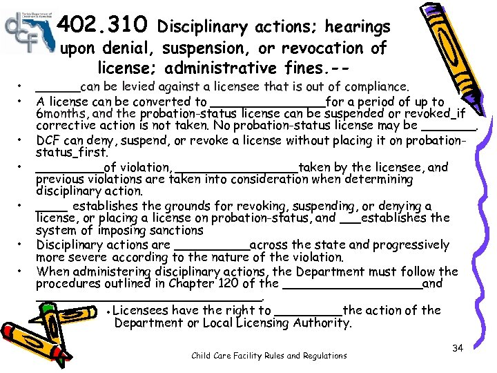402. 310 • • Disciplinary actions; hearings upon denial, suspension, or revocation of license;