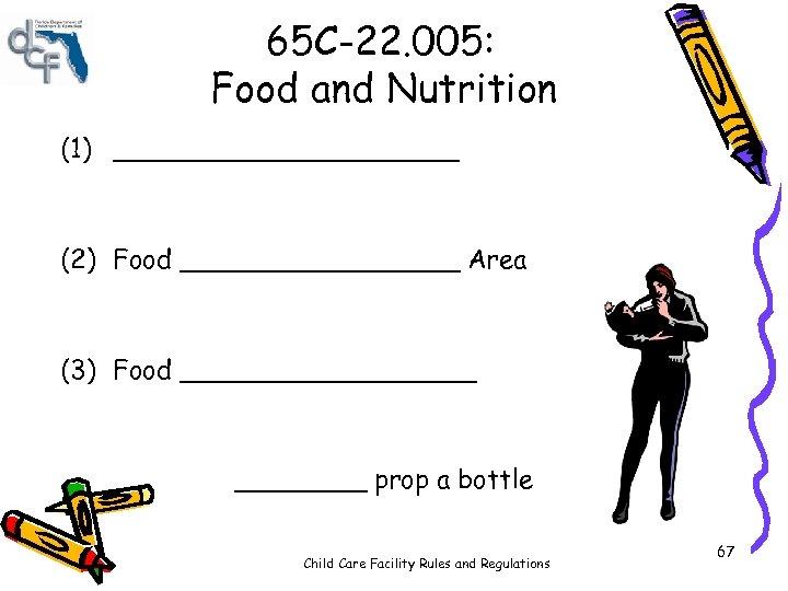 65 C-22. 005: Food and Nutrition (1) ___________ (2) Food _________ Area (3) Food