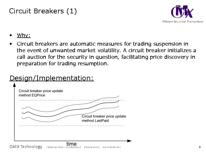 Circuit Breakers (1) • Why: • Circuit breakers are automatic measures for trading suspension