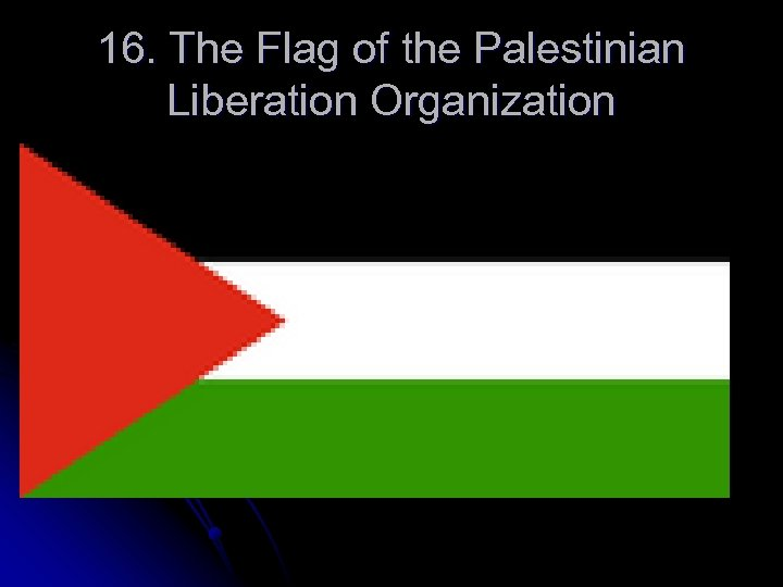 16. The Flag of the Palestinian Liberation Organization