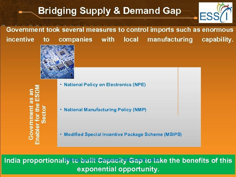 Bridging Supply & Demand Gap Government as an Enabler for the ESDM Sector Government