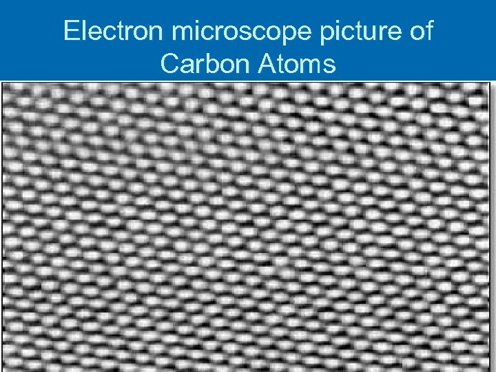 Electron microscope picture of Carbon Atoms