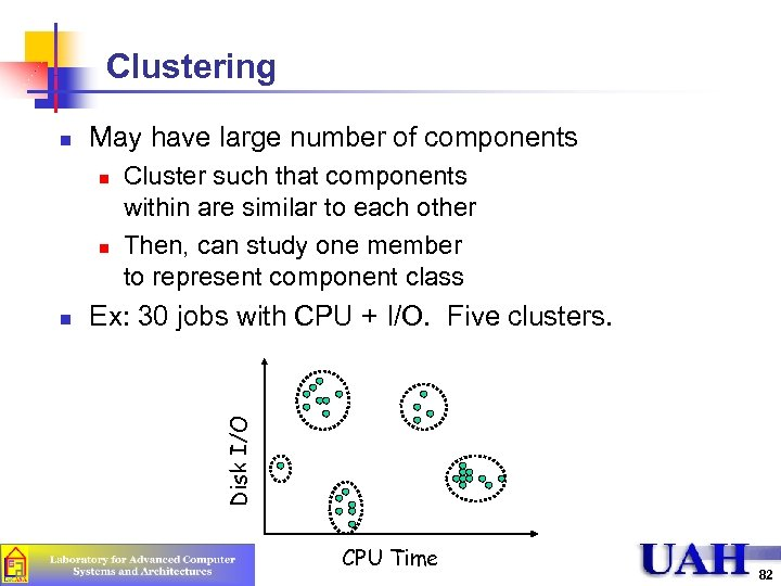 Clustering May have large number of components n n n Cluster such that components