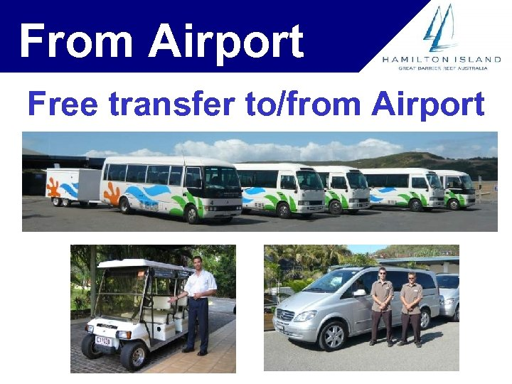 From Airport Free transfer to/from Airport