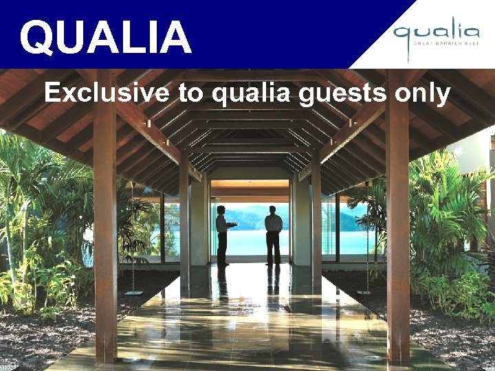 QUALIA Exclusive to qualia guests only