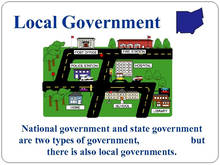 Local Government National government and state government are two types of government, but there