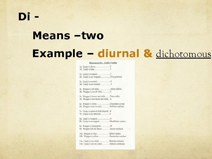 Di Means –two Example – diurnal & dichotomous