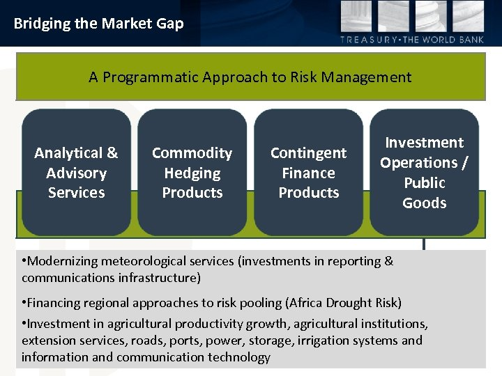 Bridging the Market Gap A Programmatic Approach to Risk Management Analytical & Advisory Services