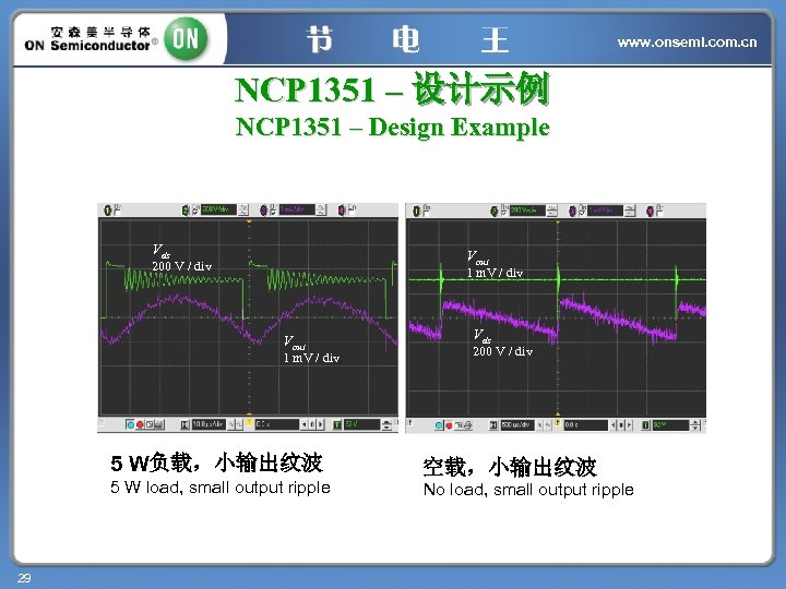 www. onsemi. com. cn NCP 1351 – 设计示例 NCP 1351 – Design Example Vds