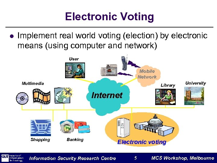 Electronic Voting l Implement real world voting (election) by electronic means (using computer and