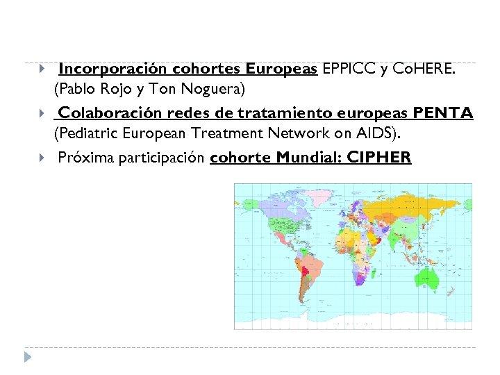 Incorporación cohortes Europeas EPPICC y Co. HERE. (Pablo Rojo y Ton Noguera) Colaboración