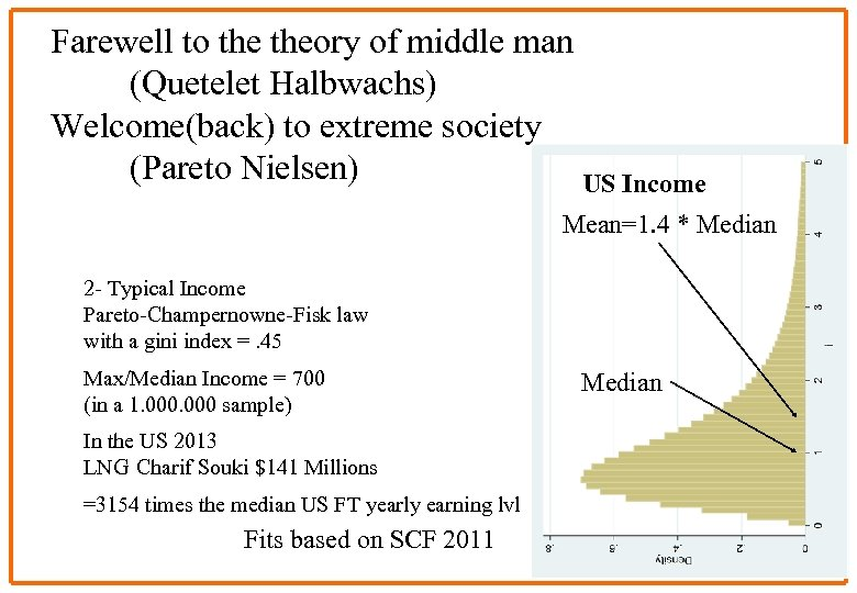 Farewell to theory of middle man (Quetelet Halbwachs) Welcome(back) to extreme society (Pareto Nielsen)