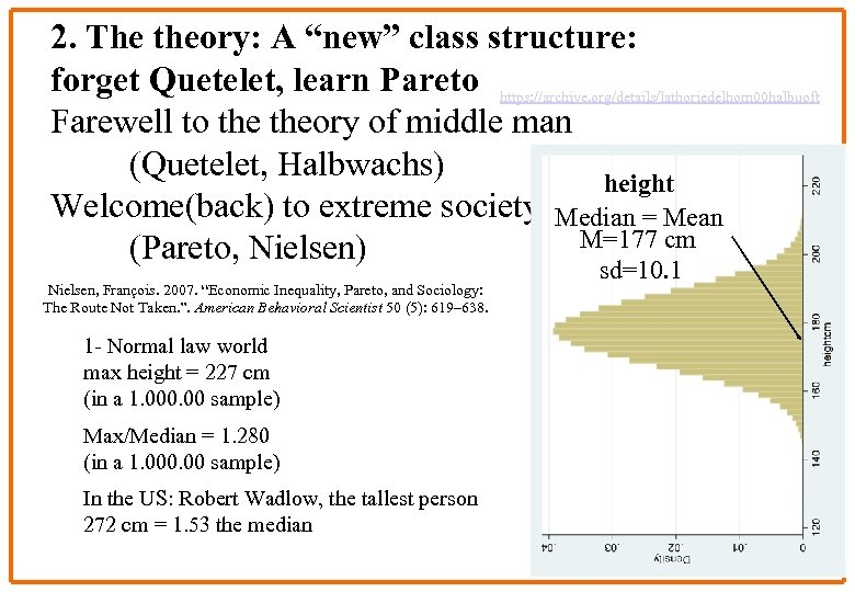 "2. The theory: A ""new"" class structure: forget Quetelet, learn Pareto https: //archive. org/details/lathoriedelhom"