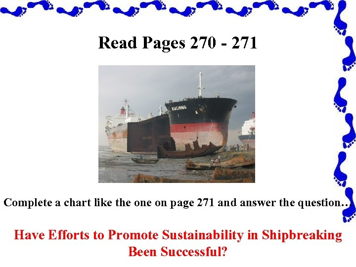 Read Pages 270 - 271 Complete a chart like the on page 271 and