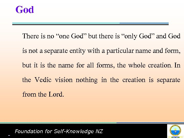 """G God There is no """"one God"""" but there is """"only God"""" and God"""