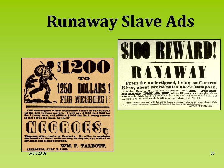 Runaway Slave Ads 3/15/2018 23