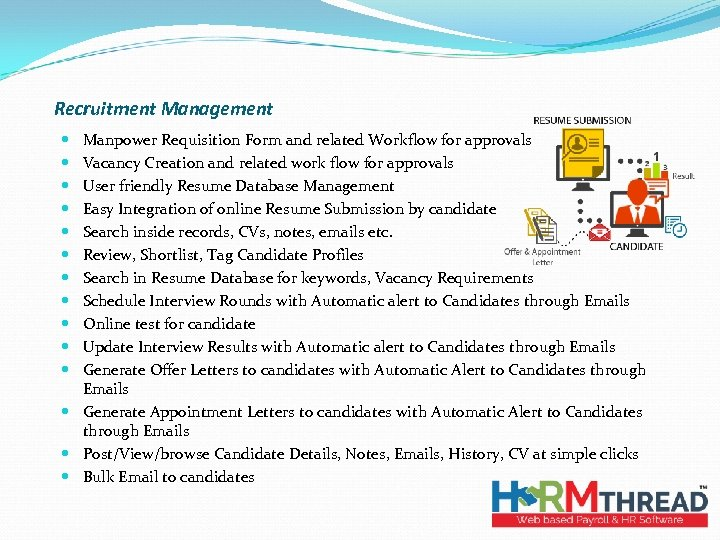 Recruitment Management Manpower Requisition Form and related Workflow for approvals Vacancy Creation and related