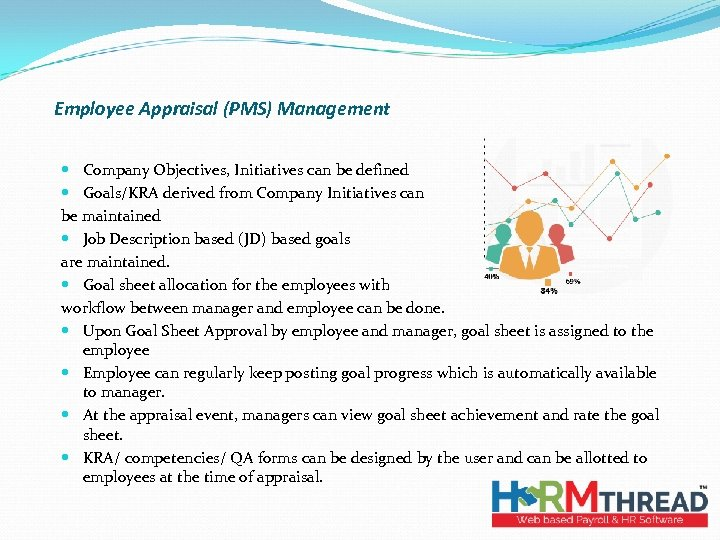 Employee Appraisal (PMS) Management Company Objectives, Initiatives can be defined Goals/KRA derived from Company