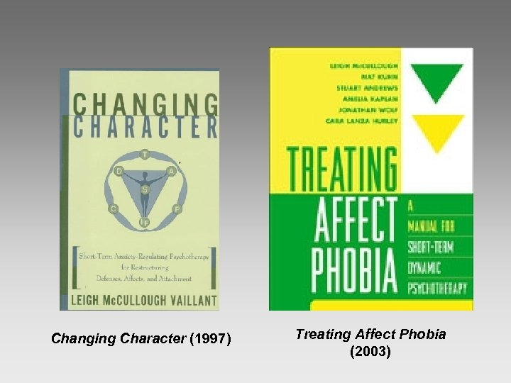 Changing Character (1997) Treating Affect Phobia (2003)