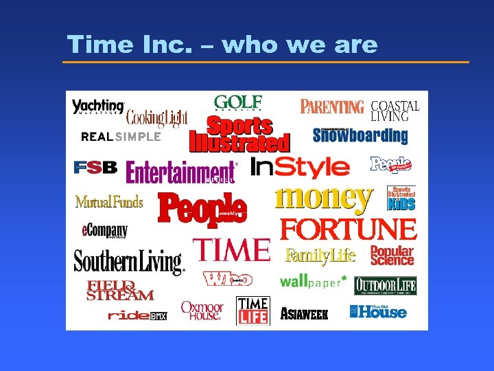Time Inc. – who we are