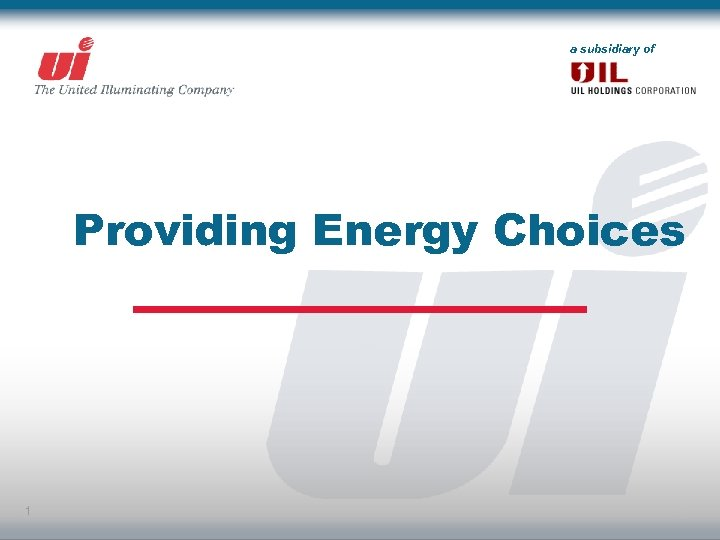 a subsidiary of Providing Energy Choices 1