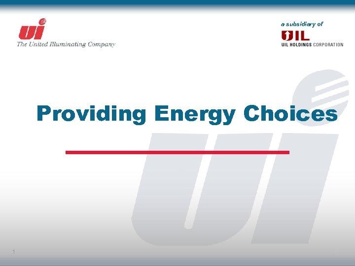 a subsidiary of Providing Energy Choices 1