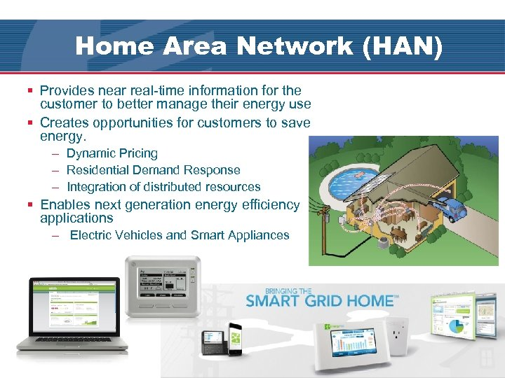 Home Area Network (HAN) § Provides near real-time information for the customer to better