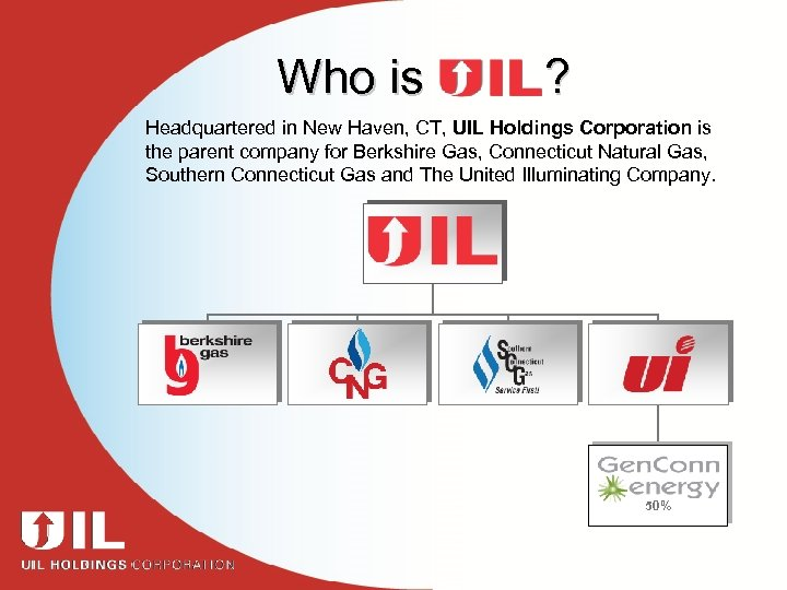 Who is ? Headquartered in New Haven, CT, UIL Holdings Corporation is the parent