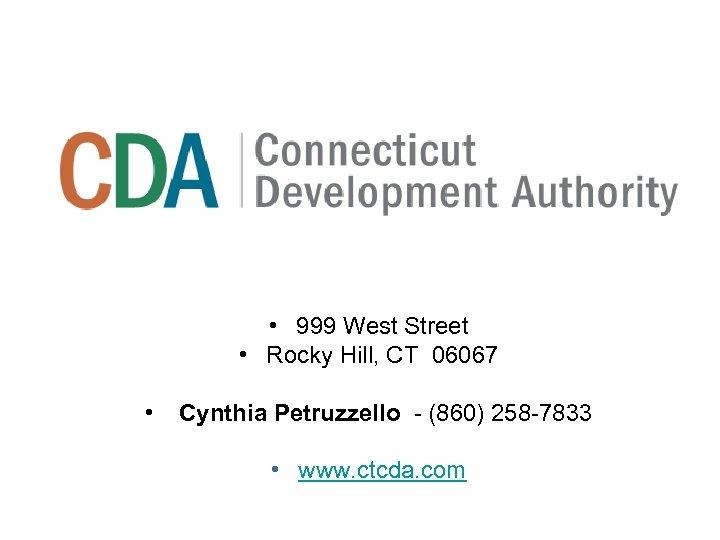 • 999 West Street • Rocky Hill, CT 06067 • Cynthia Petruzzello -