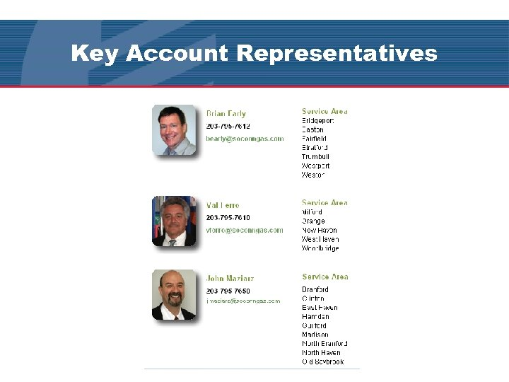 Key Account Representatives