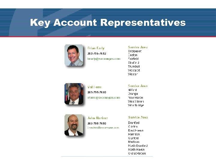 Key Account Representatives