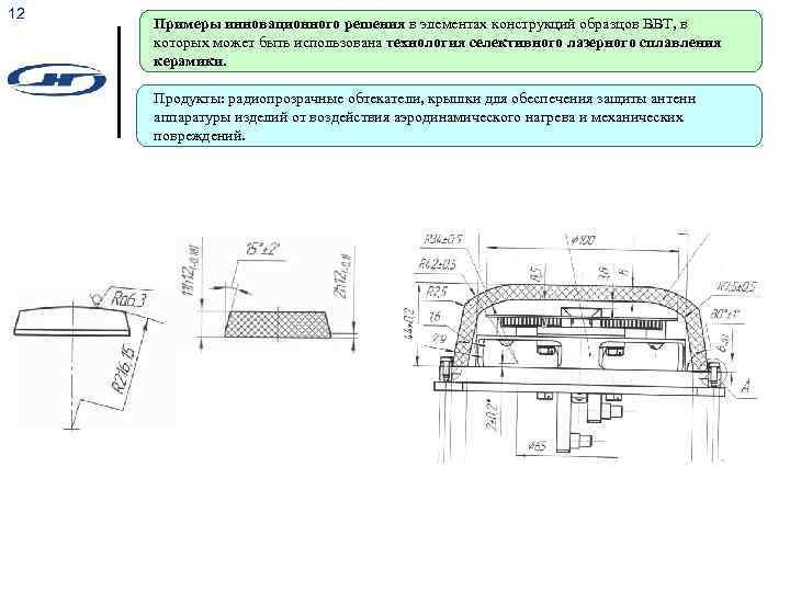 12 Примеры инновационного решения в элементах конструкций образцов ВВТ, в которых может быть использована