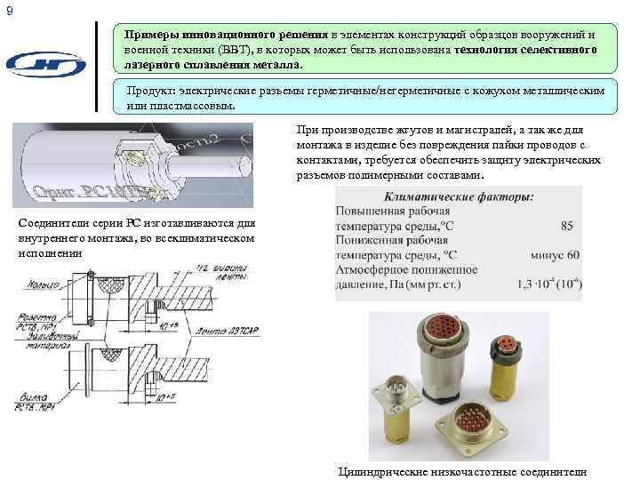 9 Примеры инновационного решения в элементах конструкций образцов вооружений и военной техники (ВВТ), в