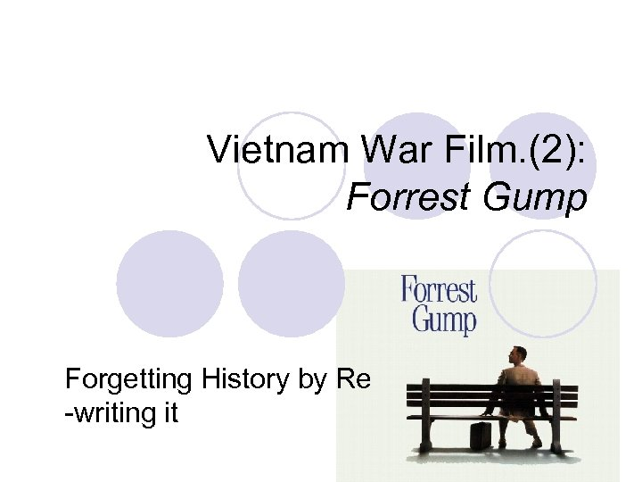 Vietnam War Film. (2): Forrest Gump Forgetting History by Re -writing it