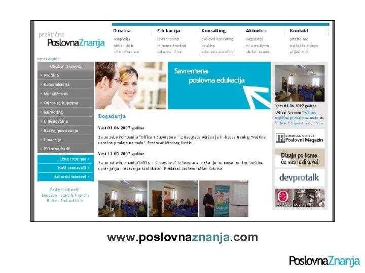 www. poslovnaznanja. com