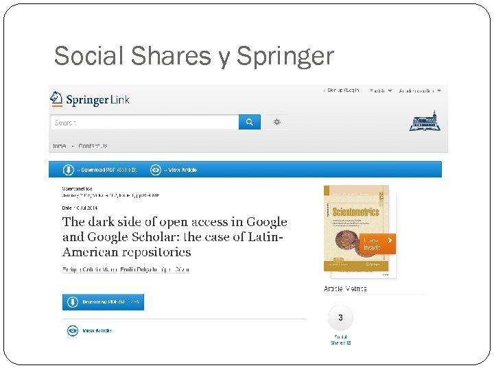 Social Shares у Springer