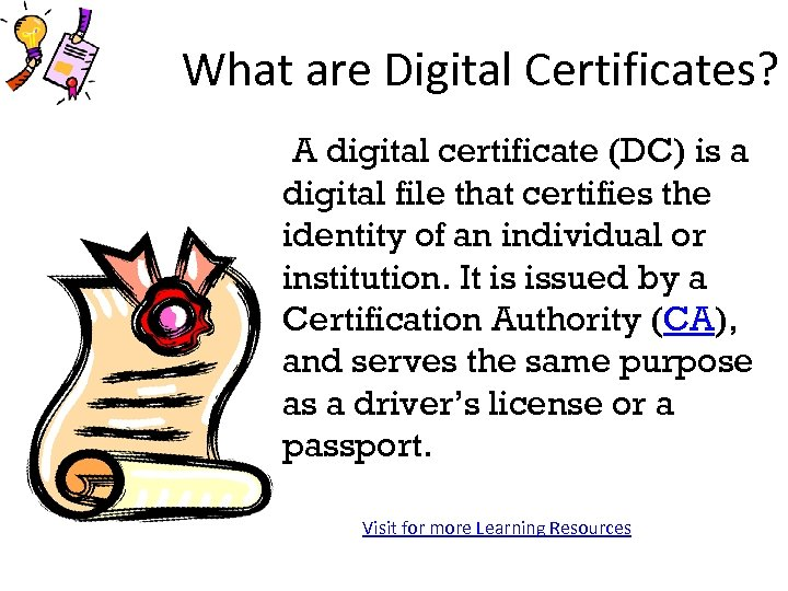 What Are Digital Certificates A Digital Certificate Dc