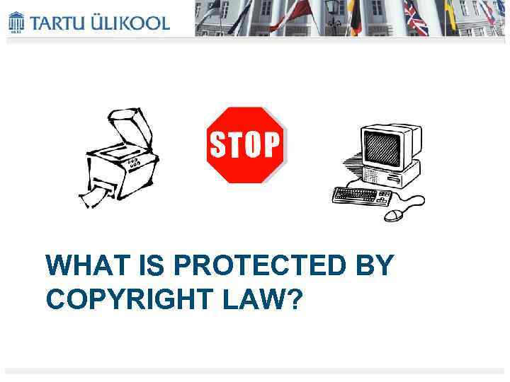 WHAT IS PROTECTED BY COPYRIGHT LAW?