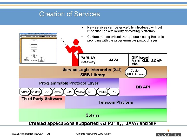 Creation of Services > New services can be gracefully introduced without impacting the availability
