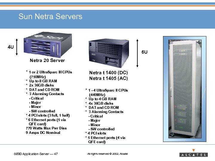 Sun Netra Servers 4 U 6 U Netra 20 Server * 1 or 2