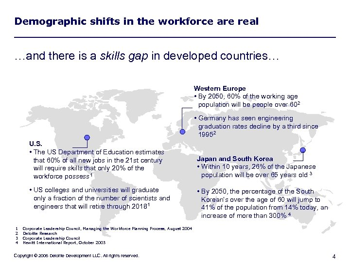 Demographic shifts in the workforce are real …and there is a skills gap in
