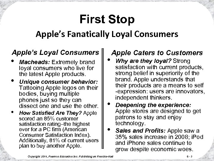 First Stop Apple's Fanatically Loyal Consumers Apple's Loyal Consumers • • • Macheads: Extremely